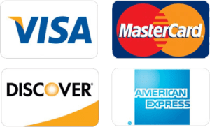 credit card logos face view